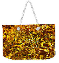 Golden Water Abstract. Feng Shui Weekender Tote Bag