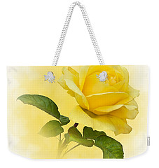 Golden Yellow Rose Weekender Tote Bag by Jane McIlroy