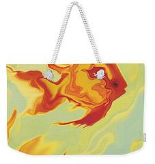 Weekender Tote Bag featuring the digital art Goldfish 1 by Rabi Khan