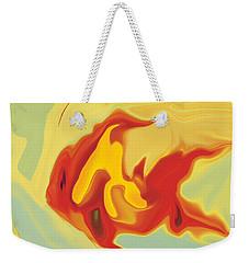 Weekender Tote Bag featuring the digital art Goldfish 2 by Rabi Khan