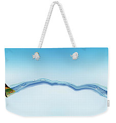 Goldfish Wearing Shark Fin Weekender Tote Bag