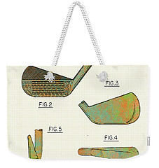 Golf Club Patent-1989 Weekender Tote Bag by Marlene Watson