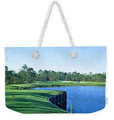 Golf Course At The Lakeside, Regatta Weekender Tote Bag by Panoramic Images