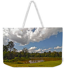 Weekender Tote Bag featuring the photograph Golf Course Landscape by Alex Grichenko