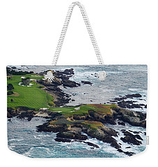 Golf Course On An Island, Pebble Beach Weekender Tote Bag