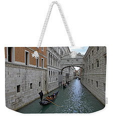Gondolas Under Bridge Of Sighs Weekender Tote Bag
