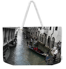 Weekender Tote Bag featuring the photograph Gondolier by Laurel Best