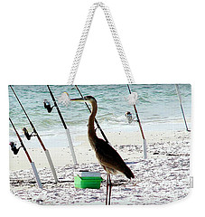 Weekender Tote Bag featuring the photograph Gone Fishing by Debra Forand