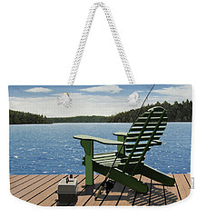 Gone Fishing Weekender Tote Bag by Kenneth M  Kirsch