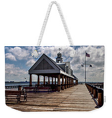 Weekender Tote Bag featuring the photograph Gone Fishing by Sennie Pierson