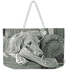 Good Day To Be On The Couch With My Slippers Weekender Tote Bag