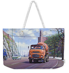 Weekender Tote Bag featuring the painting Good Mixer by Mike  Jeffries