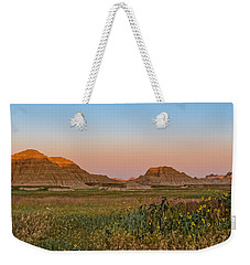 Weekender Tote Bag featuring the photograph Good Morning Badlands II by Patti Deters