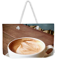 Good Morning Latte Weekender Tote Bag