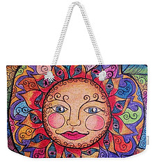 Weekender Tote Bag featuring the drawing Good Morning Sunshine by Megan Walsh
