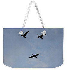 Goodbye Geese Weekender Tote Bag by Amy Gallagher