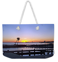 Weekender Tote Bag featuring the photograph Goodbye Sun by Roberta Byram