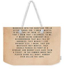 Goodfellas Weekender Tote Bag