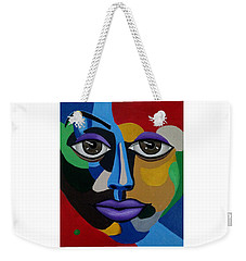 Google Me - Abstract Art Painting - Colorful Abstract Face - Ai P. Nilson Weekender Tote Bag