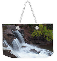 Weekender Tote Bag featuring the photograph Gooseberry Falls In Slow Motion by James Peterson