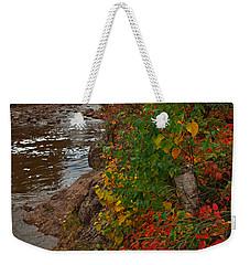 Gooseberry Foilage Weekender Tote Bag by James Peterson