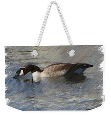 Goosey Lucy Painting Weekender Tote Bag by Bobbee Rickard