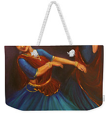 Gopis Dancing To The Flute Of Krishna Weekender Tote Bag