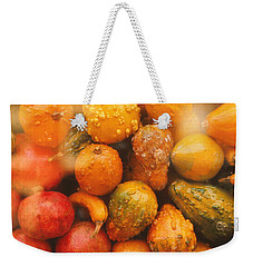 Weekender Tote Bag featuring the photograph Gorgeous Gourds by Ira Shander