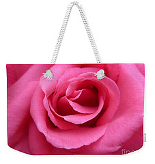 Weekender Tote Bag featuring the photograph Gorgeous Pink Rose by Vicki Spindler