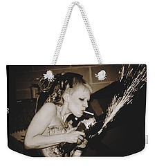 Weekender Tote Bag featuring the photograph Got A Light by Alice Gipson