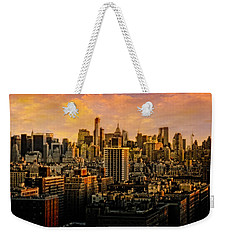 Weekender Tote Bag featuring the photograph Gotham Sunset by Chris Lord