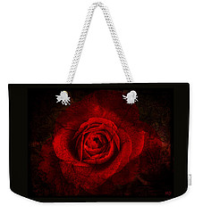 Weekender Tote Bag featuring the digital art Gothic Red Rose by Absinthe Art By Michelle LeAnn Scott