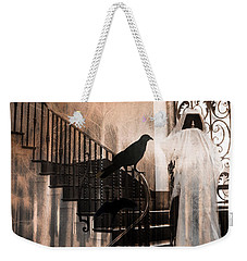 Gothic Grim Reaper With Ravens Crows - Spooky Haunting Surreal Gothic Art Weekender Tote Bag
