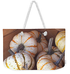 Weekender Tote Bag featuring the photograph Gourd Harvest by Denyse Duhaime