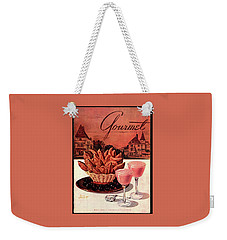 Gourmet Cover Featuring A Basket Of Potato Curls Weekender Tote Bag by Henry Stahlhut