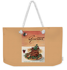 Gourmet Cover Featuring A Boar's Head Weekender Tote Bag