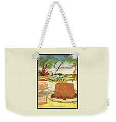 Gourmet Cover Featuring A Buffet Farm Scene Weekender Tote Bag