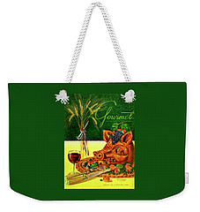 Gourmet Cover Featuring A Pig's Head On A Platter Weekender Tote Bag