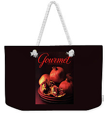 Gourmet Cover Featuring A Plate Of Pomegranates Weekender Tote Bag