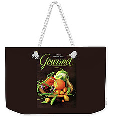 Gourmet Cover Featuring A Variety Of Fruit Weekender Tote Bag by Romulo Yanes
