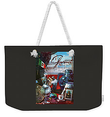 Gourmet Cover Featuring A Variety Of Italian Weekender Tote Bag