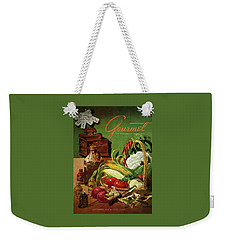 Gourmet Cover Featuring A Variety Of Vegetables Weekender Tote Bag by Henry Stahlhut