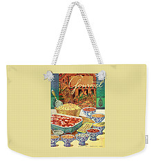Gourmet Cover Featuring Various Indian Dishes Weekender Tote Bag
