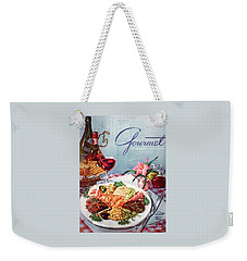 Gourmet Cover Illustration Of A Plate Of Antipasto Weekender Tote Bag