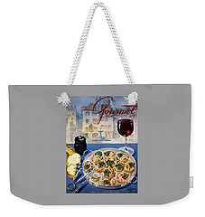 Gourmet Cover Illustration Of A Platter Weekender Tote Bag by Henry Stahlhut