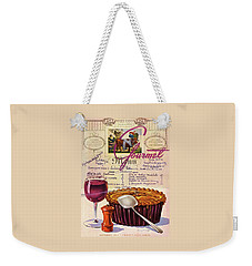 Gourmet Cover Illustration Of Deep Dish Pie Weekender Tote Bag