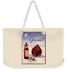 Gourmet Cover Illustration Of Flaming Chocolate Weekender Tote Bag