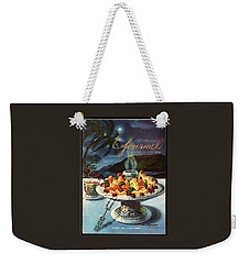 Gourmet Cover Illustration Of Fruit Dish Weekender Tote Bag