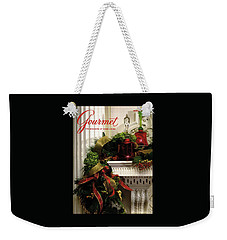 Gourmet Magazine Cover Featuring Christmas Garland Weekender Tote Bag