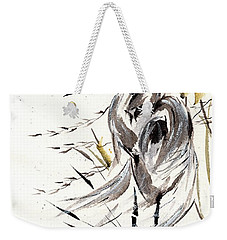 Weekender Tote Bag featuring the painting Grace Of Solitude by Bill Searle